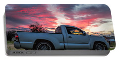 Toyota Tacoma Trd Truck Sunset Portable Battery Charger