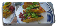 Portable Battery Charger featuring the photograph Tacos Almost Mirrored by Marie Neder