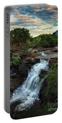 Tad Lo Waterfall, Bolaven Plateau, Champasak Province, Laos Portable Battery Charger by Sam Antonio Photography