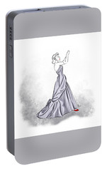 Portable Battery Charger featuring the digital art Taffeta Gown by Cindy Garber Iverson
