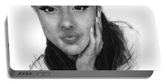 Ariana Grande Drawing By Sofia Furniel Portable Battery Charger