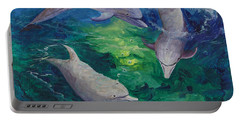 Portable Battery Charger featuring the painting Tag Your It by Darice Machel McGuire