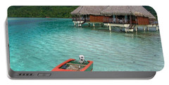 Portable Battery Charger featuring the photograph Tahitian Boat by Jacqueline Faust