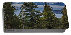 Tahoe Though The Fog Portable Battery Charger by Nancy Marie Ricketts