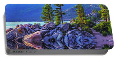 Tahoe Water Reflections Portable Battery Charger by Nancy Marie Ricketts