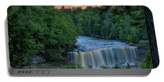 Tahquamenon Falls Sunset. Portable Battery Charger