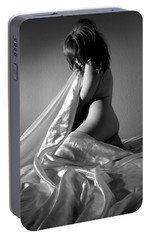 Portable Battery Charger featuring the photograph Tani Balck And White by Joe Kozlowski