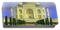 Taj Mahal Morning Portable Battery Charger by Dominic Piperata