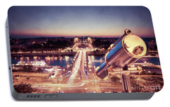 Portable Battery Charger featuring the photograph Take A Look At Paris by Hannes Cmarits
