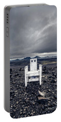 Portable Battery Charger featuring the photograph Take A Seat Iceland by Edward Fielding