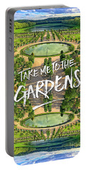 Take Me To The Gardens Versailles Palace France Portable Battery Charger