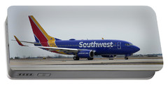 Take Off Southwest Airlines N7878a Hartsfield-jackson Atlanta International Airport Art Portable Battery Charger