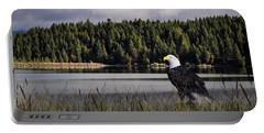 Portable Battery Charger featuring the photograph Taking A Break As Evening Falls by Diane Schuster