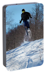 Portable Battery Charger featuring the photograph Taking Air On Mccauley Mountain by David Patterson