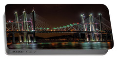 Tale Of 2 Bridges At Night Portable Battery Charger