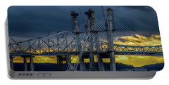 Tale Of 2 Bridges At Sunset Portable Battery Charger