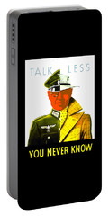 Talk Less You Never Know Portable Battery Charger