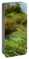 Tall Grass At Boat Dock Portable Battery Charger