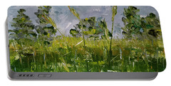 Portable Battery Charger featuring the painting Tall Grass by Judith Rhue