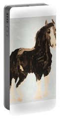 Portable Battery Charger featuring the painting Tall Horse by Donald J Ryker III