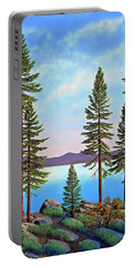 Tall Pines Of Lake Tahoe Portable Battery Charger