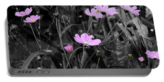 Tall Pink Poppies Portable Battery Charger