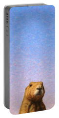 Tall Prairie Dog Portable Battery Charger by James W Johnson