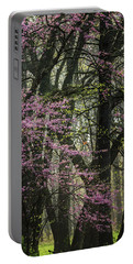 Tall Red Buds In Spring Portable Battery Charger by Joni Eskridge
