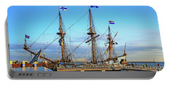 Tall Ship Kalmar Nyckel Portable Battery Charger by Allan Levin