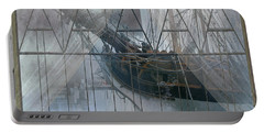 Tall Ship Through A Window Portable Battery Charger