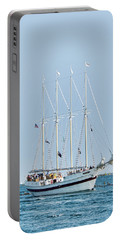 Portable Battery Charger featuring the photograph Tall Ship Windy - Chicago by John Black