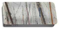 Portable Battery Charger featuring the photograph Tall Ships And Schooners Rigging And Masts  by Joann Vitali