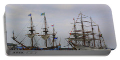 Historic Tall Ships Hermione And Sagres Portable Battery Charger