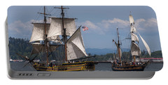 Tall Ships Square Off Portable Battery Charger