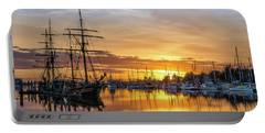 Tall Ships Sunset 1 Portable Battery Charger by Greg Nyquist