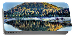 Tamarack Glow Idaho Landscape Art By Kaylyn Franks Portable Battery Charger