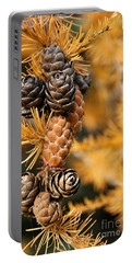 Tamarack Larch Tree In The Fall  Portable Battery Charger