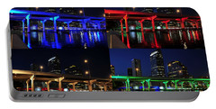 Portable Battery Charger featuring the photograph Tampa's Colorful Bridges by David Lee Thompson