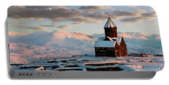 Tanahat Monastery At Sunset In Winter, Armenia Portable Battery Charger