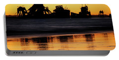 Tangalooma Wrecks Sunset Silhouette Portable Battery Charger