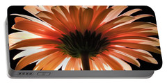 Tangerine Gerber Daisy Portable Battery Charger