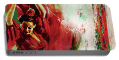 Portable Battery Charger featuring the painting Tango Dance 45g by Gull G