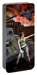 Tank Girl In Action Portable Battery Charger