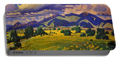 Taos Fields Of Yellow Portable Battery Charger