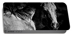 Taos Pony In B-w Portable Battery Charger