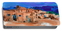 Taos Pueblo Village Portable Battery Charger