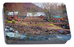 Portable Battery Charger featuring the photograph Tapoco Lodge by Debra and Dave Vanderlaan