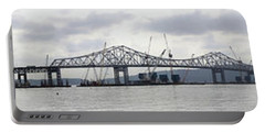 Tappan Zee Bridge From Tarrytown Portable Battery Charger by Suhas Tavkar