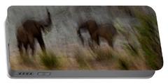 Tarangire Elephants 1 Portable Battery Charger