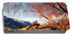 Portable Battery Charger featuring the photograph Tarasp Village And Castle by Edmund Nagele